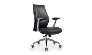 Silla giratoria de cuero Modern Office True Wellness Manager (Dwight)